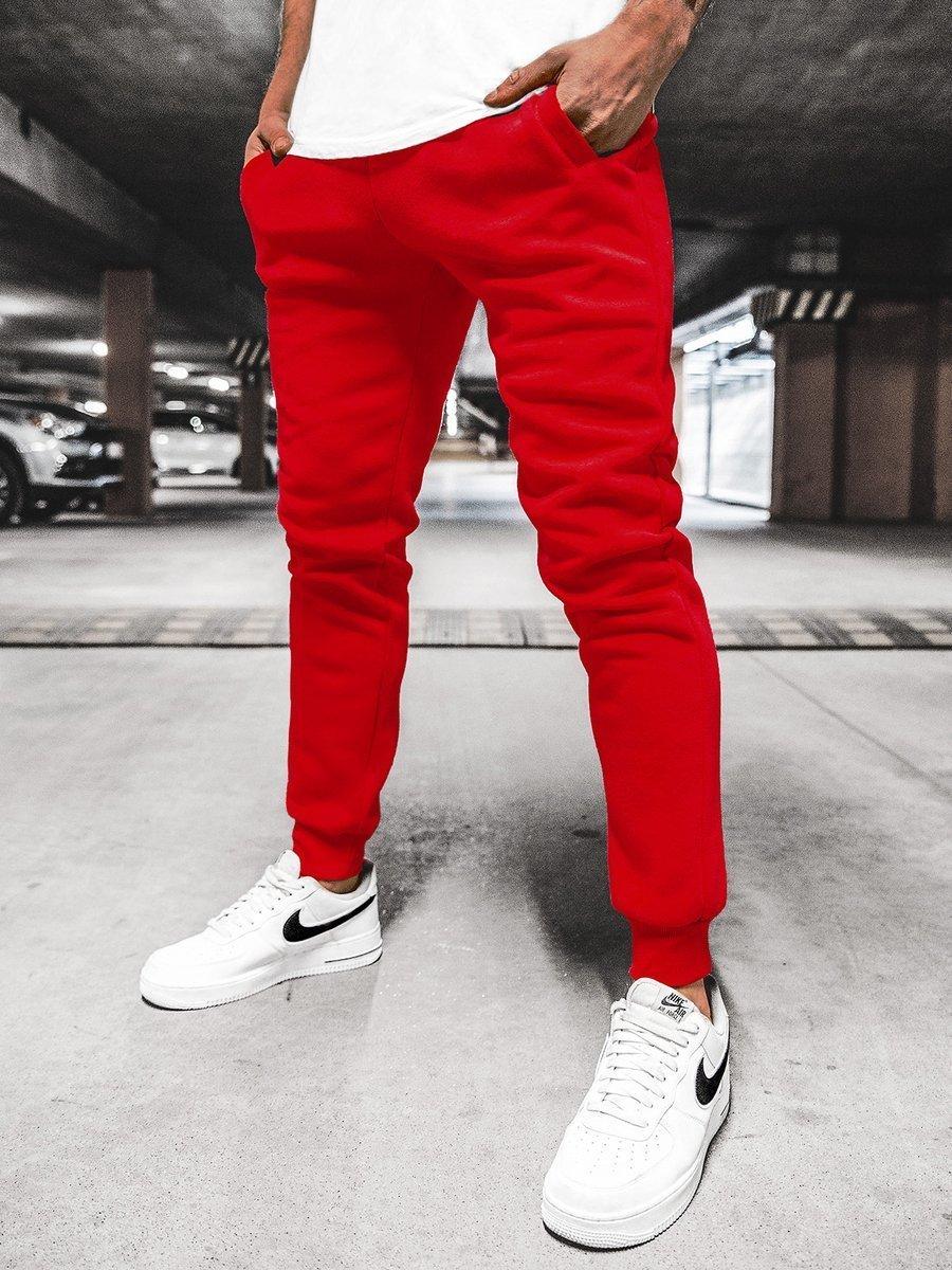 Vīriešu sporta bikses sarkanas OZONEE JS/XW01